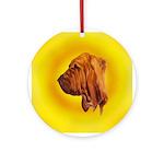 Beautiful Bloodhound Head stu Ornament (Round)