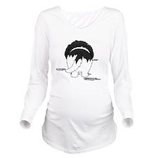 LandseerDroolMirrorD Long Sleeve Maternity T-Shirt