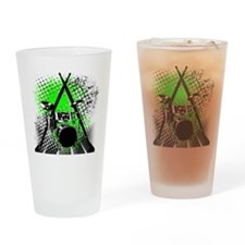 Drums  Sticks Drinking Glass
