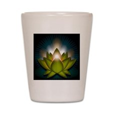 Chakra Lotus - Heart Green - Stadium Bl Shot Glass