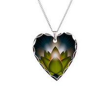 Chakra Lotus - Heart Green -  Necklace