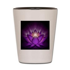 Chakra Lotus - Crown Violet - banner Shot Glass
