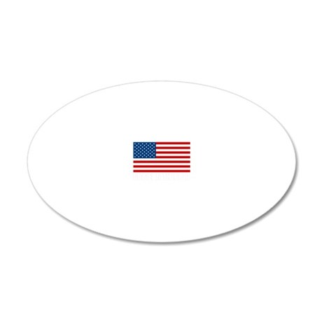 MADEINTHEUSAdark 20x12 Oval Wall Decal