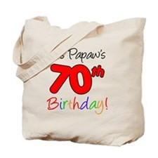 Papaws 70th Birthday Tote Bag