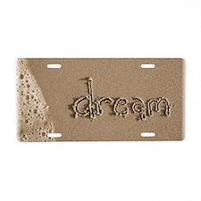 dream sepia Aluminum License Plate