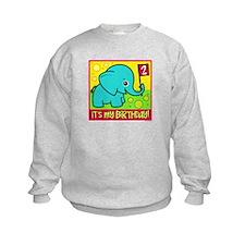2nd Birthday Elephant Sweatshirt