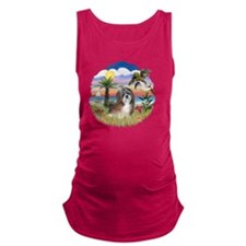 Palms-ShihTzu8 Maternity Tank Top