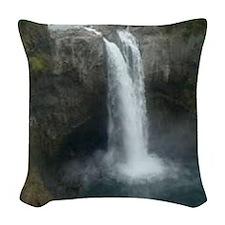 Snoqualmie Falls Woven Throw Pillow