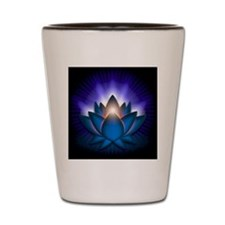 Chakra Lotus - Throat Blue - stadium bl Shot Glass