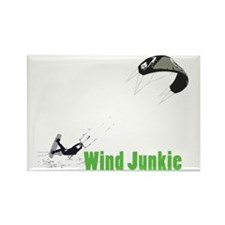 Rider-Wind-Junkie Rectangle Magnet