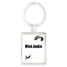 Wind Junkie Black Portrait Keychain