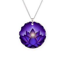 Chakra Lotus - Third Eye Pur Necklace