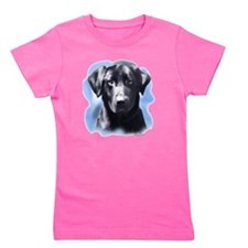 black lab portrait Girl's Tee
