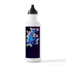 Heart Jewel  Blue Koi- Sports Water Bottle