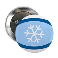 "Snowflake 2.25"" Button (100 pack)"