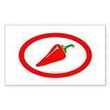 Red Hot Chili Rectangle Decal