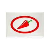 Red Hot Chili Rectangle Magnet (100 pack)