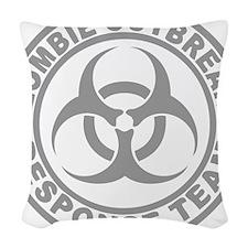 zombieOutbr1C Woven Throw Pillow
