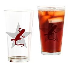 newtshirt_redgrey Drinking Glass