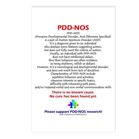 PDD-NOS Facts Postcards (Package of 8)