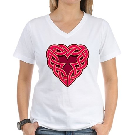 Chante Heartknot Women's V-Neck T-Shirt