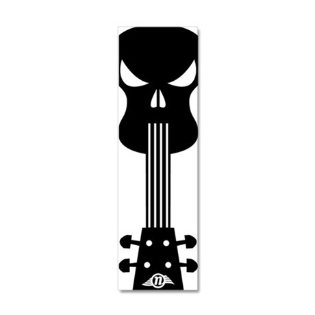 Skull Ukulele 20x6 Wall Decal