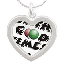 Let the Good Times Roll Silver Heart Necklace