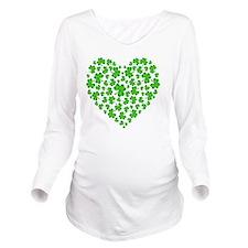 ! My Irish Heart cop Long Sleeve Maternity T-Shirt