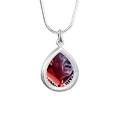23x35 Ron Paul Revolutio Silver Teardrop Necklace