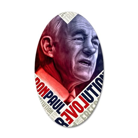 23x35 Ron Paul Revolution Po 35x21 Oval Wall Decal