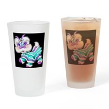 Dragon background black/teal Drinking Glass