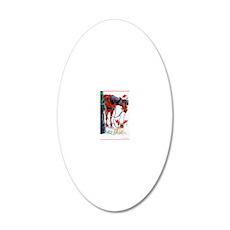 nyc xmas card 5x7 bleed 20x12 Oval Wall Decal
