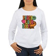 PeaceLoveDeer1sq T-Shirt