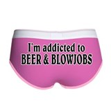 Addicted to beer and blowjob Ladies Boy Shorts