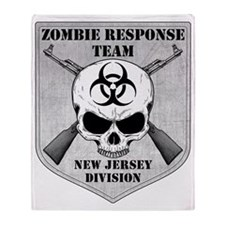 Zombie Response Team New Jersey Throw Blanket