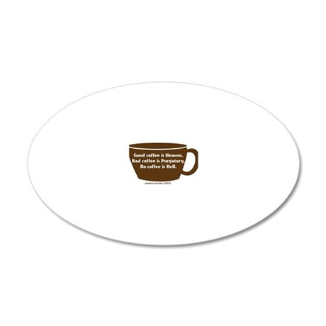 coffee1 20x12 Oval Wall Decal