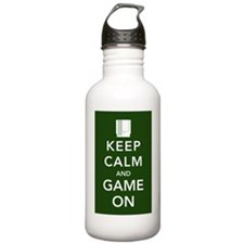 game on poster Water Bottle