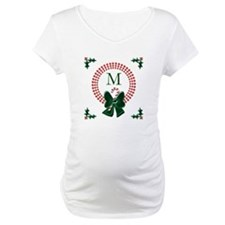 Dot Christmas Wreath Monogram Shirt