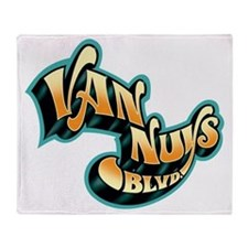 van_nuys_blvd Throw Blanket