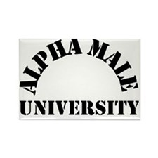 AlphaMaleUniversity Rectangle Magnet