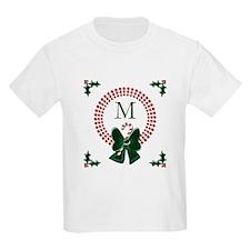 Dot Christmas Wreath Monogram T-Shirt