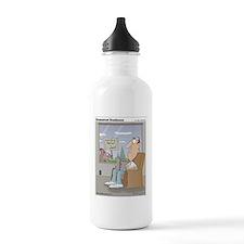 The bird feeder is emp Water Bottle