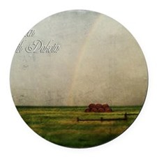 rainbow02 Round Car Magnet