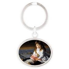 RM Sargent 5 Oval Keychain