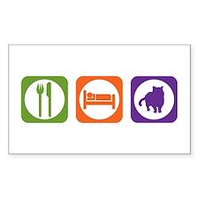 Eat Sleep Shorthair Rectangle Decal