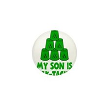 green My Son is Stack-tacular, retro b Mini Button