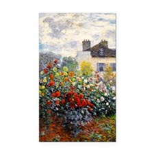 GC Monet Red Rectangle Car Magnet