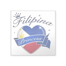 "phillipines Square Sticker 3"" x 3"""