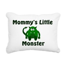 mommys little monster gr Rectangular Canvas Pillow