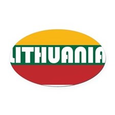 Lithuania Oval Car Magnet